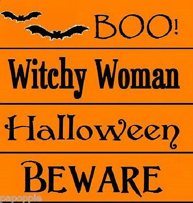 Stencil Lot Halloween BOO! Beware Witchy Woman Bats