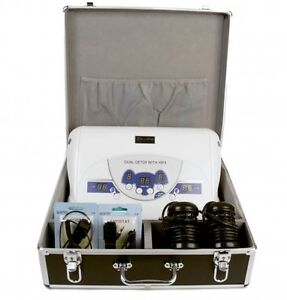 Dual Digital Ionic Detox Spa Foot Bath System With Aluminum Case