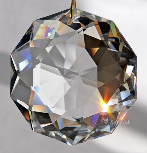 "Swarovski 8950-0051 ""Dahlia"" Crystal Clear Pendant Prism w Logo in Velvet Pouch"