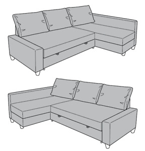 Sofa bed with storage - Grey colour