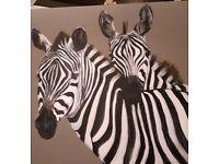 Original Painting - Zebras by Rosemary Clark