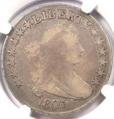 1807 DRAPED BUST HALF DOLLAR 50C O-115 - NGC F15 -  CERTIFIED COIN
