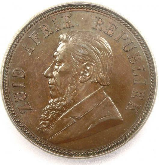 1892 South Africa Zar Penny KM-2 - ICG MS62 - Rare BU MS Certified Coin!