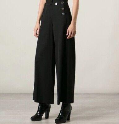 Jean Paul Gaultier Vintage High Waist Wide Leg Sailor Pants in Black Italy
