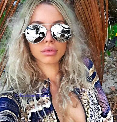 Big SEXY Large Mirror Metal Aviator Fashion viVieNNe Design Sunglasses Glasses (Vivienne Sunglasses)
