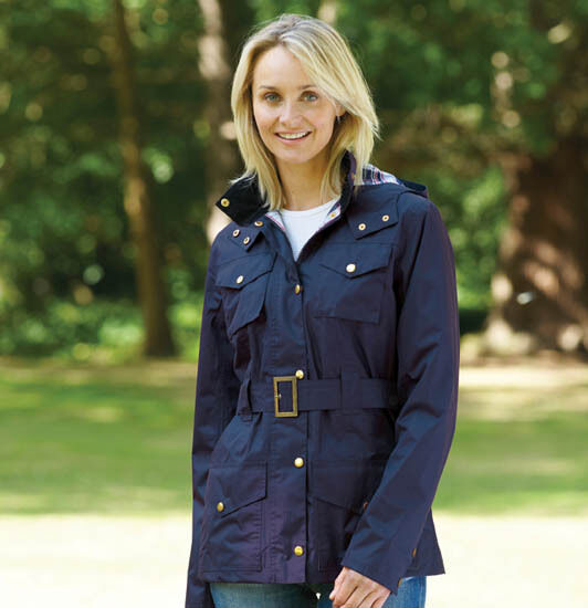 Champion Ladies Hythe Quilted Belted Country Jacket Navy Free UK P/&P
