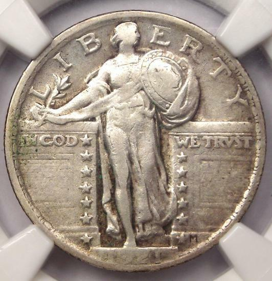 1921 Standing Liberty Quarter 25C - Certified NGC VF30 - Rare Date - $825 Value