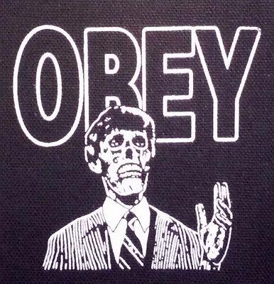 They Live PATCH - canvas HORROR / Sci-Fi John Carpenter Roddy Piper cult OBEY
