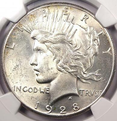 1928 Peace Silver Dollar $1 - NGC Uncirculated - Rare 1928-P BU MS UNC Coin