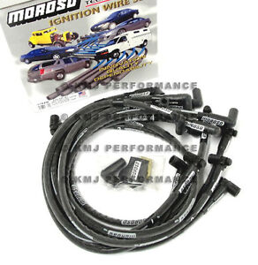 SBC CHEVY MOROSO Race Spark Plug Wires HEI Under Header