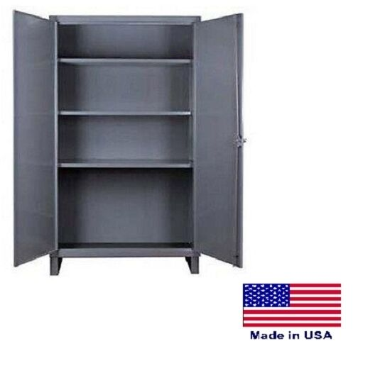 Storage Cabinet Commercial/indl - 12 Gauge Steel - 3 Shelf - Gray - 66x60x24  D