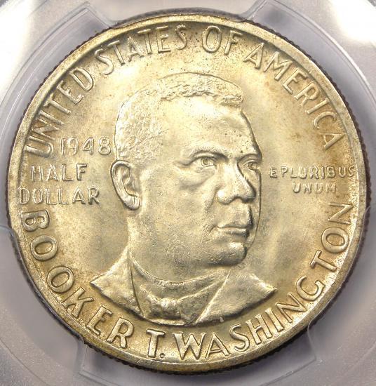 1948 BTW Booker T Washington Half Dollar 50C. PCGS MS66+ Plus Grade - $265 Value
