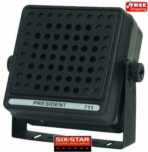 GENUINE NEW PRESIDENT 711 CB/HAM  RADIO EXTERNAL SPEAKER WITH 10 FT CORD