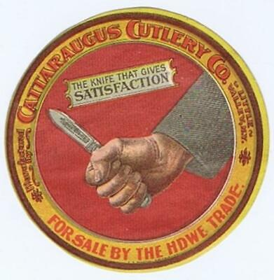 Cattaraugus Cutlery Little Valley NY hand knife sticker label seal c1900 103