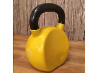 Kettlebell 20kg Bodymax Cast Iron Vinyl Coated Deluxe Wrist Safe design compact