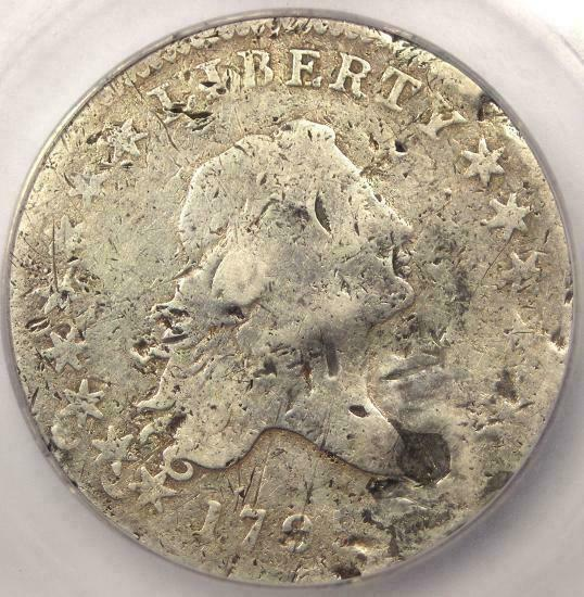 1795 Flowing Hair Bust Half Dollar 50C - Certified ICG VG8 Details - Rare Coin!