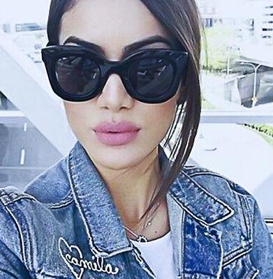 Fashion Marta Square Cat Eye Faceted Big Glossy Lux Wayfe Sunglasses 80464 L
