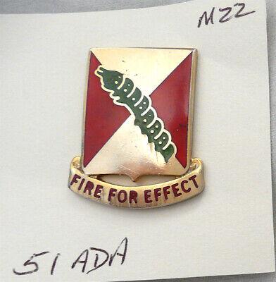 US Army 51st Air Defense Artillery DUI/ DI/ crest