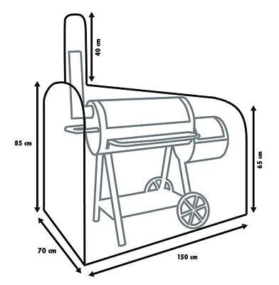 Primaster Schutzhülle Universal 150x80x150 cm für Smoker Grillkamin Abdeckung