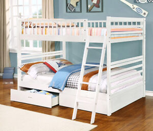 BUNK BEDS ON SALE!!! Full over Full Bunk Bed w/ Storage Drawers!