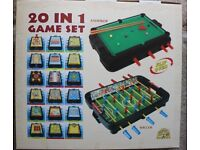 Snooker, Football, Bowling, Chess and more, 20 in 1 Game Set