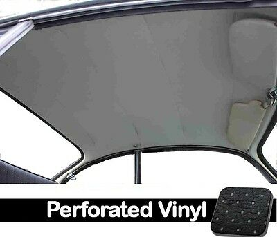 1956-1974 VW Ghia Sedan Original Style Headliner, Black Perforated Vinyl