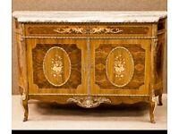Reproduction Louis XVI walnut sideboard