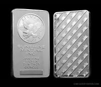 Bar en argent/silver 10 oz sunshine old style sealed