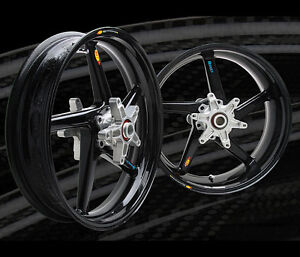 BST Carbon Fiber Rims Wheels Kawasaki ZRX1100 1200R Wheel Rim Set