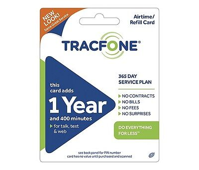 Tracfone 400 Minutes  400 Sms  400 Data  365 Service Days