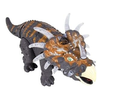 Walking Dinosaur Triceratops Toy Figure With Many Lights   Sounds  Real Movement