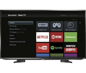 "50""Sharp  1080p ROKU smart  LED TV"