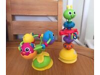 Lamaze Toys x 2 with Suction Cups