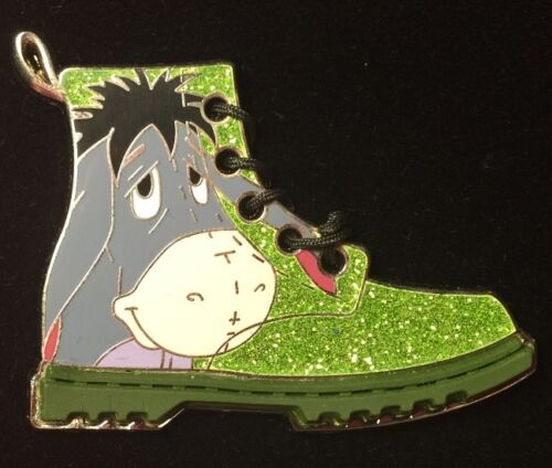 DISNEY PIN - EEYORE Green Sparkly Boot Steppin