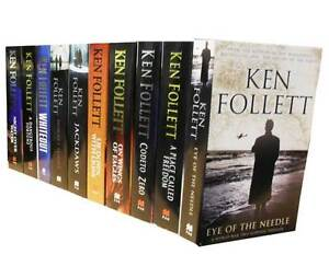 Ken Follett Collection 10 Books Set Eye of the Needle, Jackdaws, Code to Zero PB