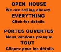Selling almost EVERYTHING! / Nous vendons presque TOUT!
