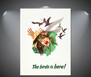 Alfred-Hitchcocks-Birds-Vintage-Movie-Poster-A1-A2-A3-A4-sizes
