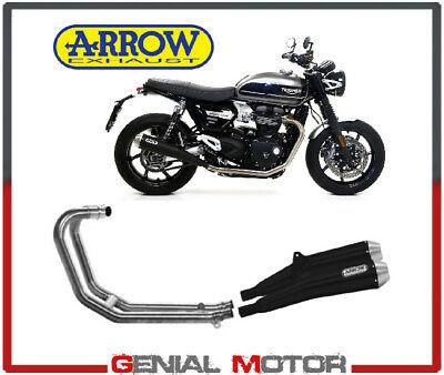 Exhaust Syst Arrow Bla Pro Tail Pi Ste Collec NoKat Triumph Speed 1200 2019 2020