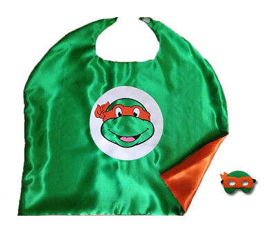 Halloween Costume Teenage Mutant Ninja Turtle Cape and Mask for Kids Boy Girl ](Turtle Costume For Kids)