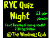 RYC Quiz Night Windmill Club, Rushden