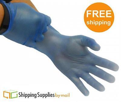 1000 Powder Free Blue Vinyl Gloves Industrial Grade (Non Latex Nitrile Exam) - L