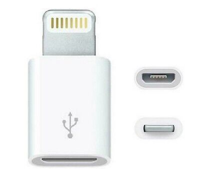 2pcs 8pin micro USB to  charger convertre adapter for iphone 5 6