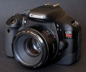 Canon Rebel T3i with 50mm lens