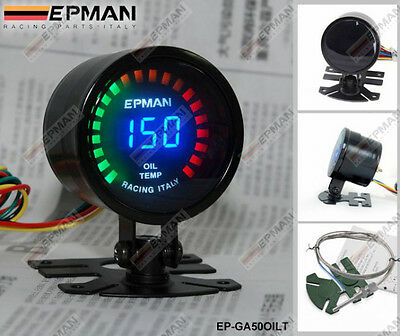 "EPMAN RACING 52mm 2"" DIGITAL ANALOG LED OIL TEMP TEMPERATURE METER GAUGE"