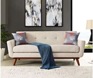 Brand New Modern Mid Century Style Sofa Couch