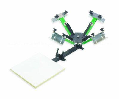 Screen Printing Press 4 X 1 - 4 Color Equipment Machine Press - Made In Usa