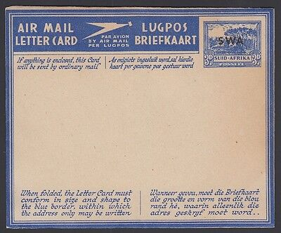 South West Africa  1944   Aerogramme W1  Type 3  Mint