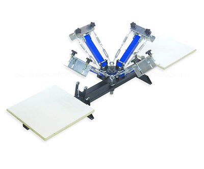 Four 4 Color 2 Station Screen Printing Press Four Machine T-shirt Springer