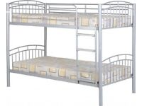 Metal Bunk Bed Silver BRAND NEW