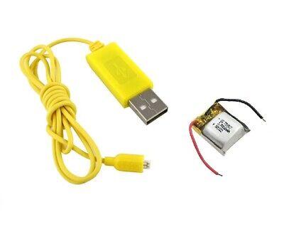 Lipo Batería Y Cargador USB Cable S107G Syma RC Mini Interior Helicóptero...